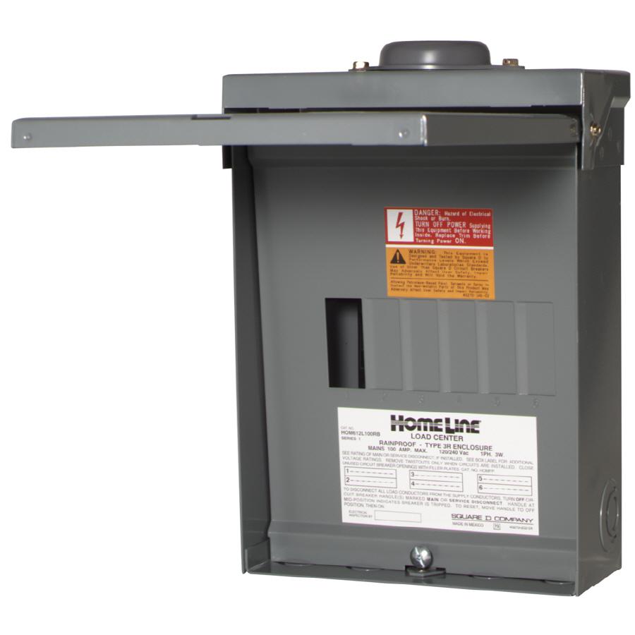 100 Amp Electric 6 Breaker Box Wiring Diagram | Wiring Diagram - Square D 100 Amp Panel Wiring Diagram