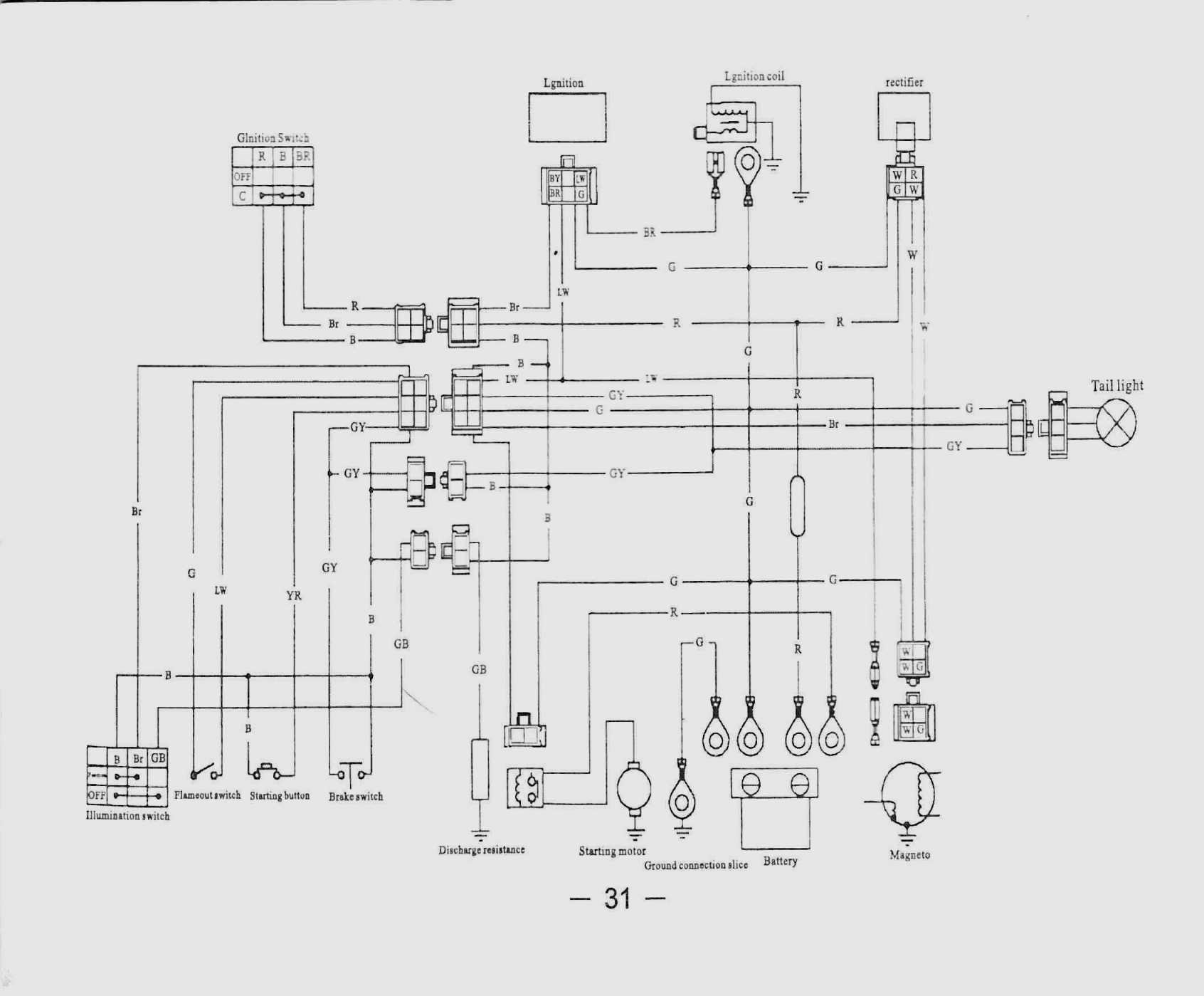 110Cc Go Kart Wiring Diagram - Wiring Diagram Data Oreo - Taotao 110Cc Atv Wiring Diagram