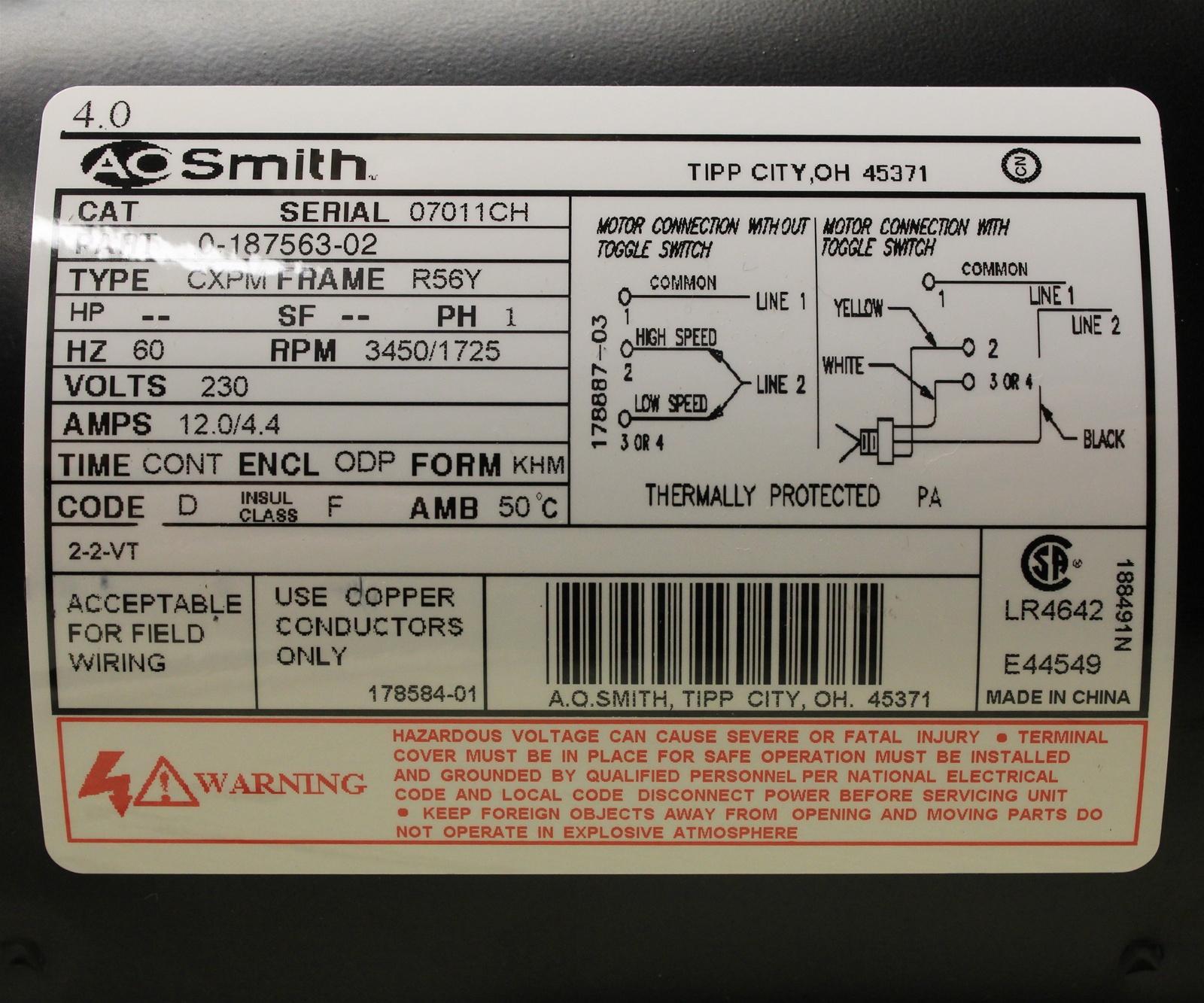 115 230 Volt Wiring Diagram Schematic | Wiring Diagram - Century Ac Motor Wiring Diagram 115 230 Volts
