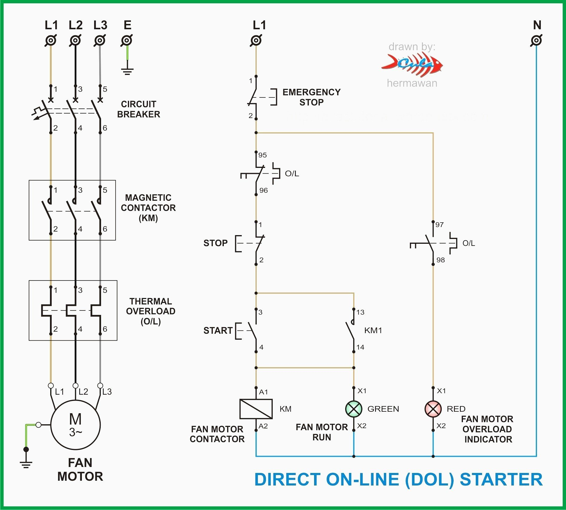 120 208 3 Phase Sub Panel Wire Diagram | Wiring Library - Motor Starter Wiring Diagram Start Stop
