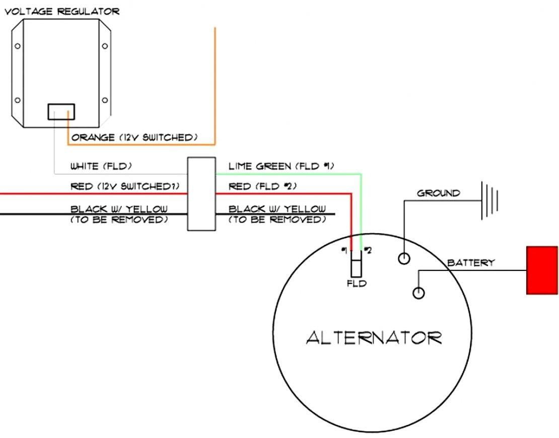12V 8N 3 Wire Alternator Diagram - Wiring Diagrams - 1 Wire Alternator Wiring Diagram