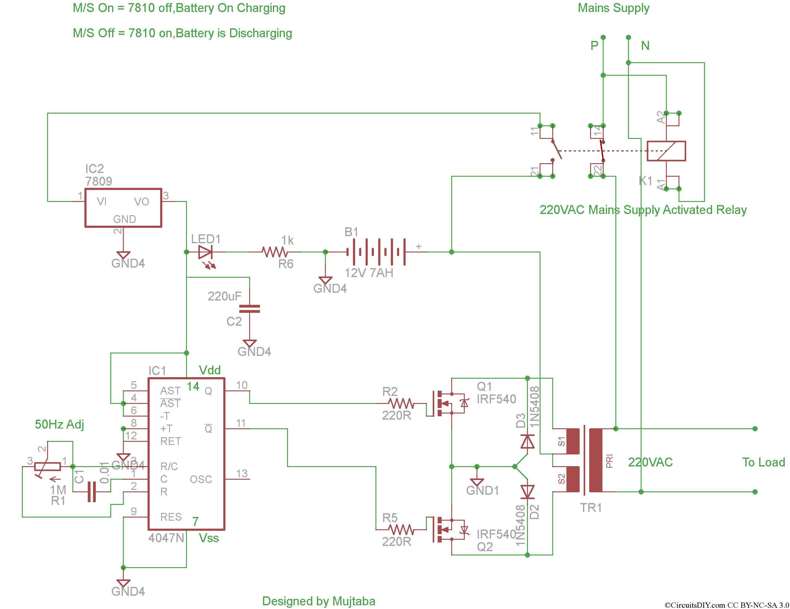 12Vdc To 220Vac Inverter Circuit Diagram Pdf | Wiring Library - Power Inverter Wiring Diagram