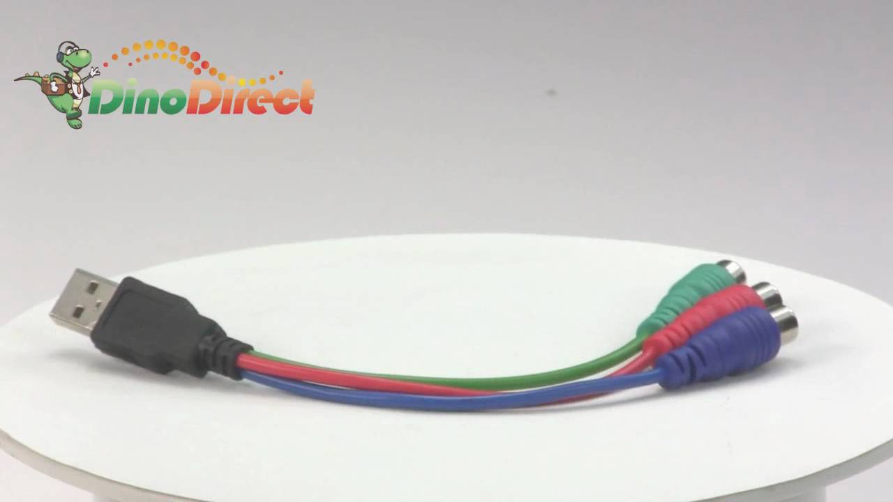 18Cm Usb To 3 Rca Video Converter Cable For Psp From Dinodirect - Usb To Rca Cable Wiring Diagram