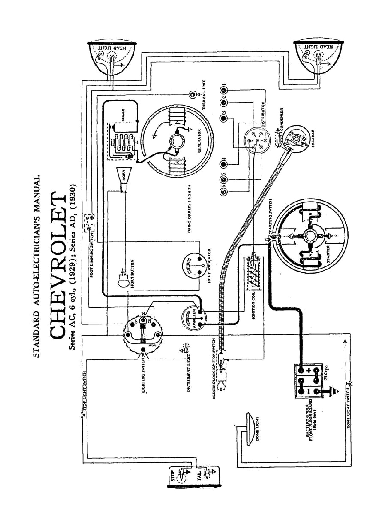 1949 Chev Wiring | Wiring Diagram - Mercury Outboard Ignition Switch Wiring Diagram