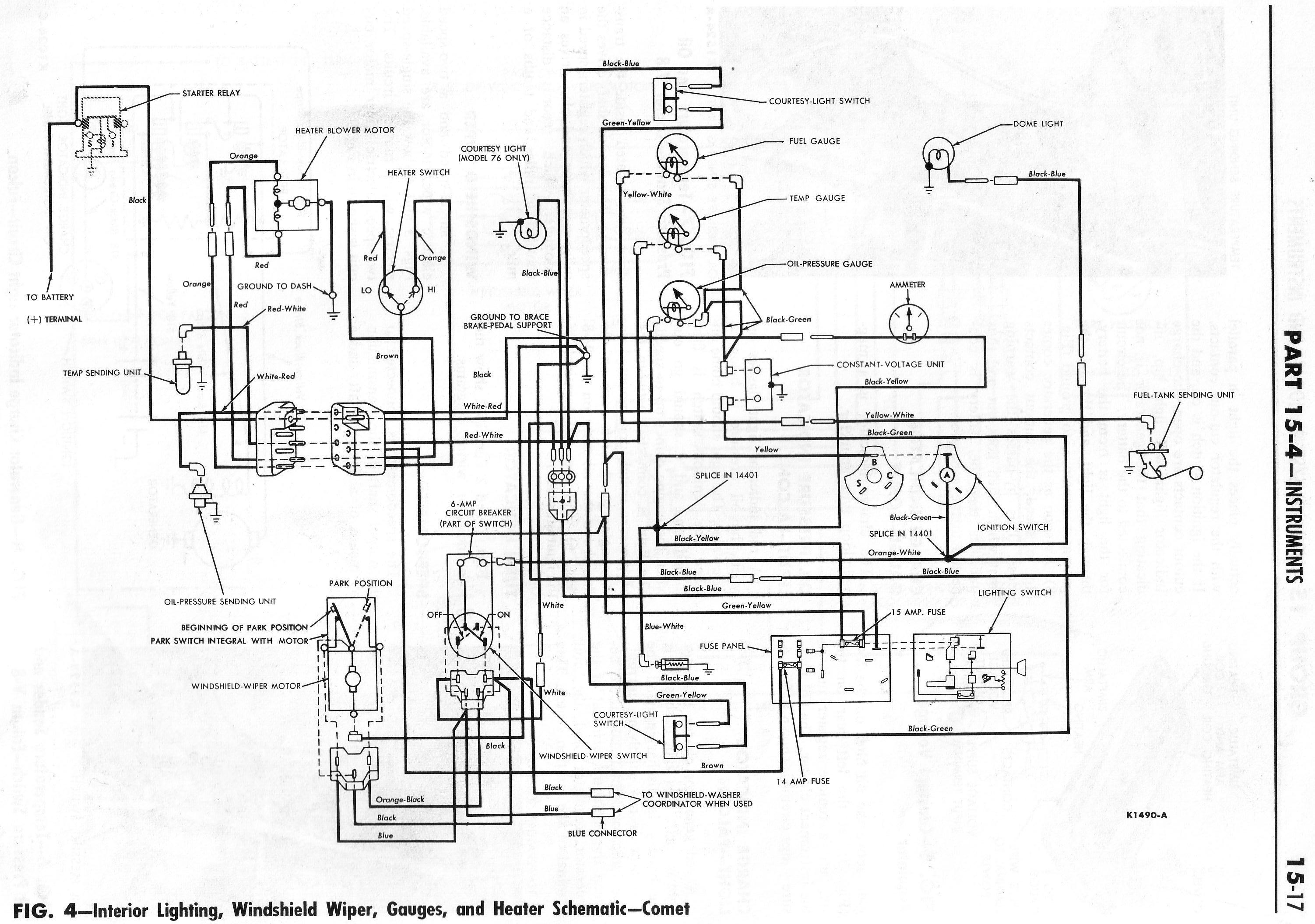 1964 Ranchero Wiring Diagrams - 4 Wire Alternator Wiring Diagram
