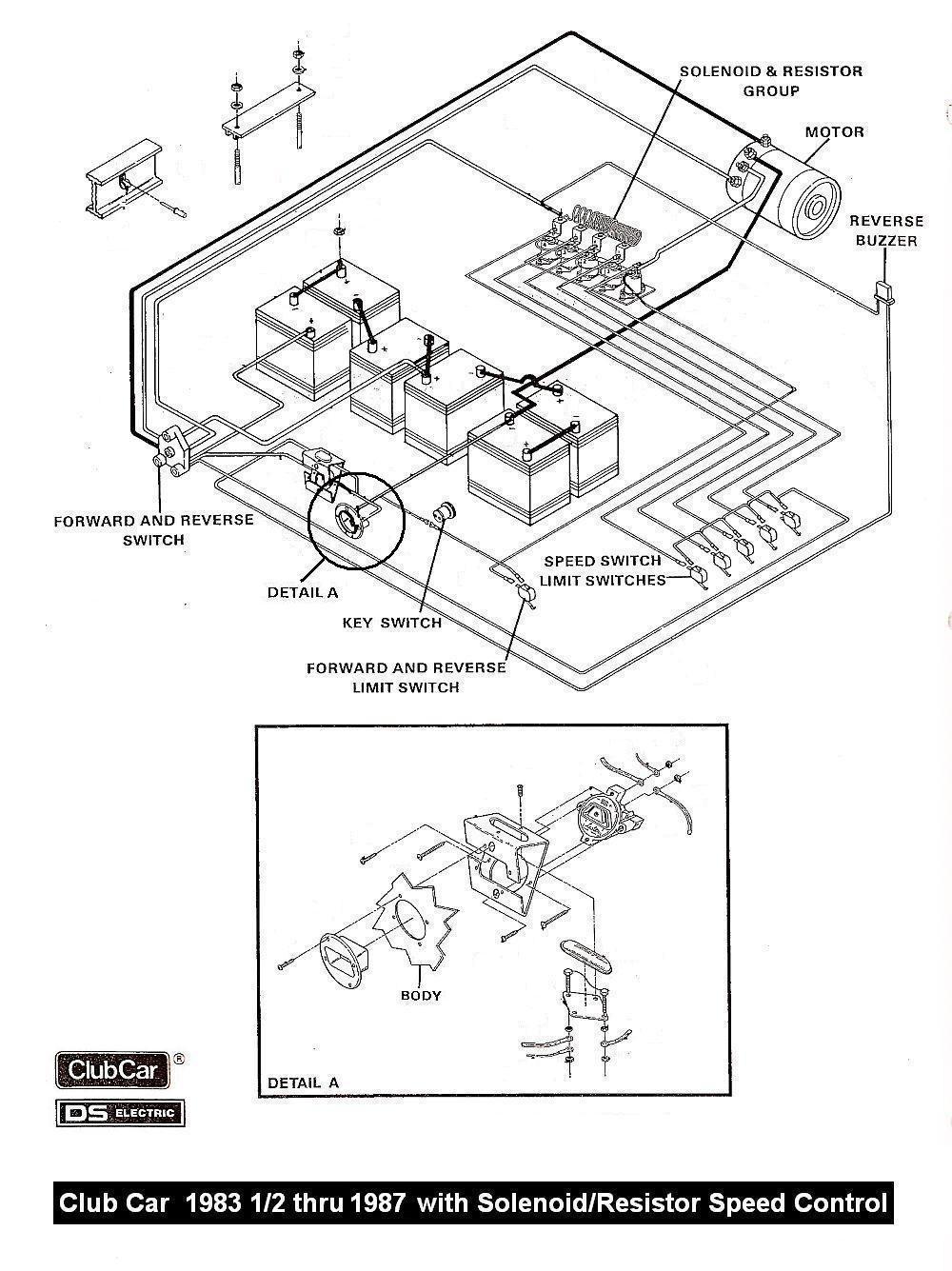 1985 Club Car Forward Reverse Switch Wiring Diagram | Manual E-Books - Club Car Forward Reverse Switch Wiring Diagram