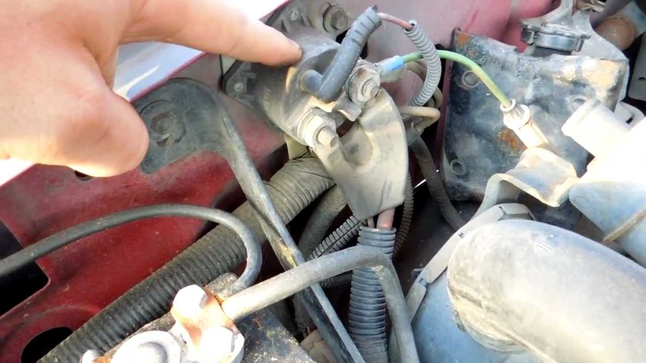 1994 Ford F150 5.8L Efi Starter Solenoid Relay Location - Youtube - Ford F250 Starter Solenoid Wiring Diagram