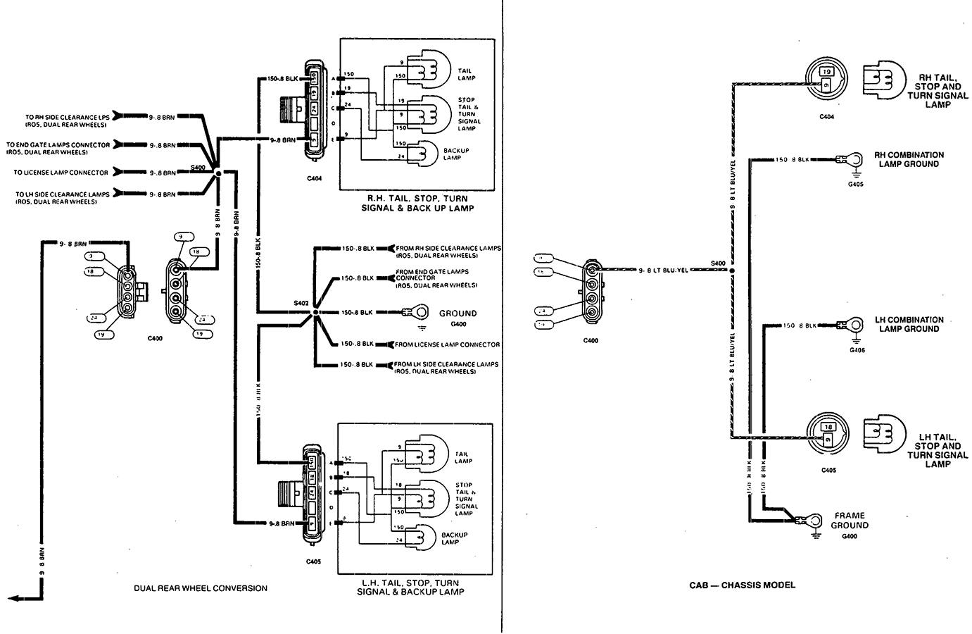 1997 Chevy Tail Light Wiring Diagram   Manual E-Books - Tail Light Wiring Diagram
