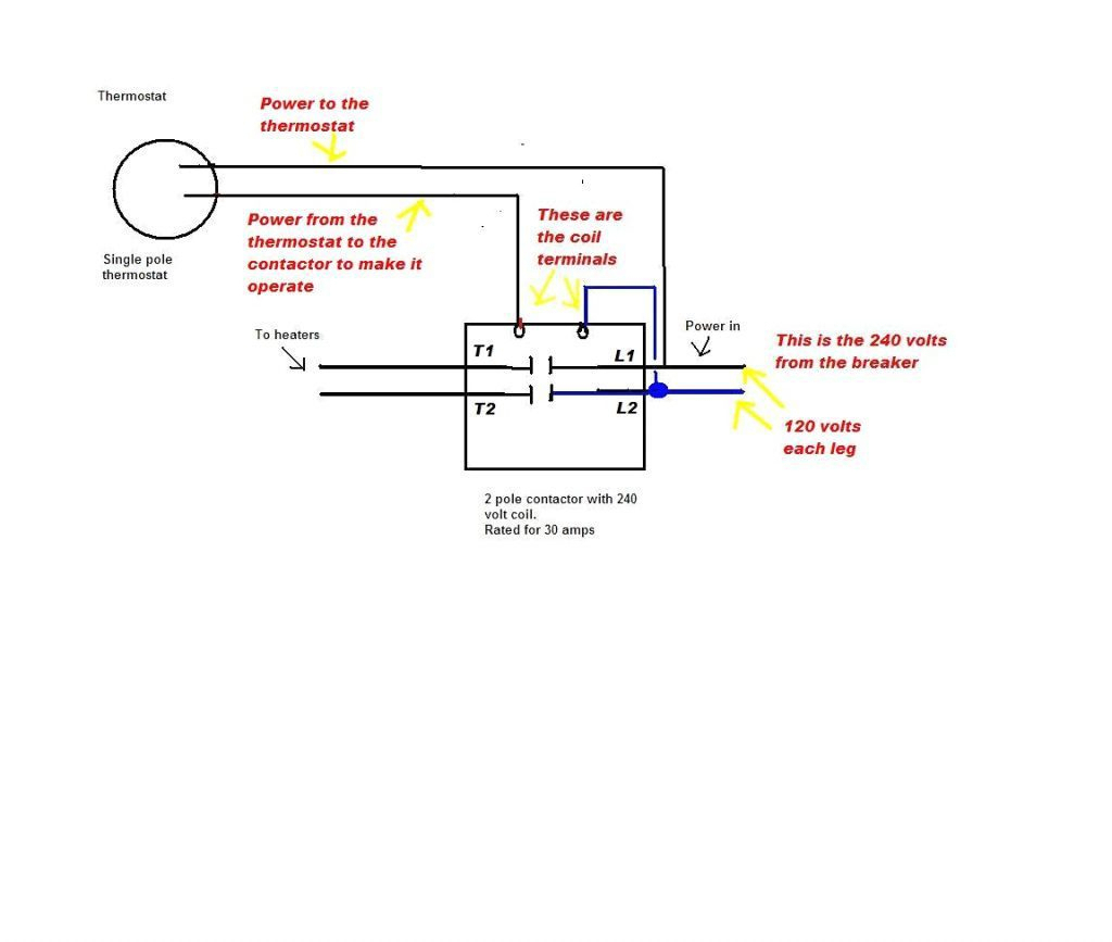 2 Pole Thermostat Wiring Diagram | Manual E-Books - Double Pole Thermostat Wiring Diagram