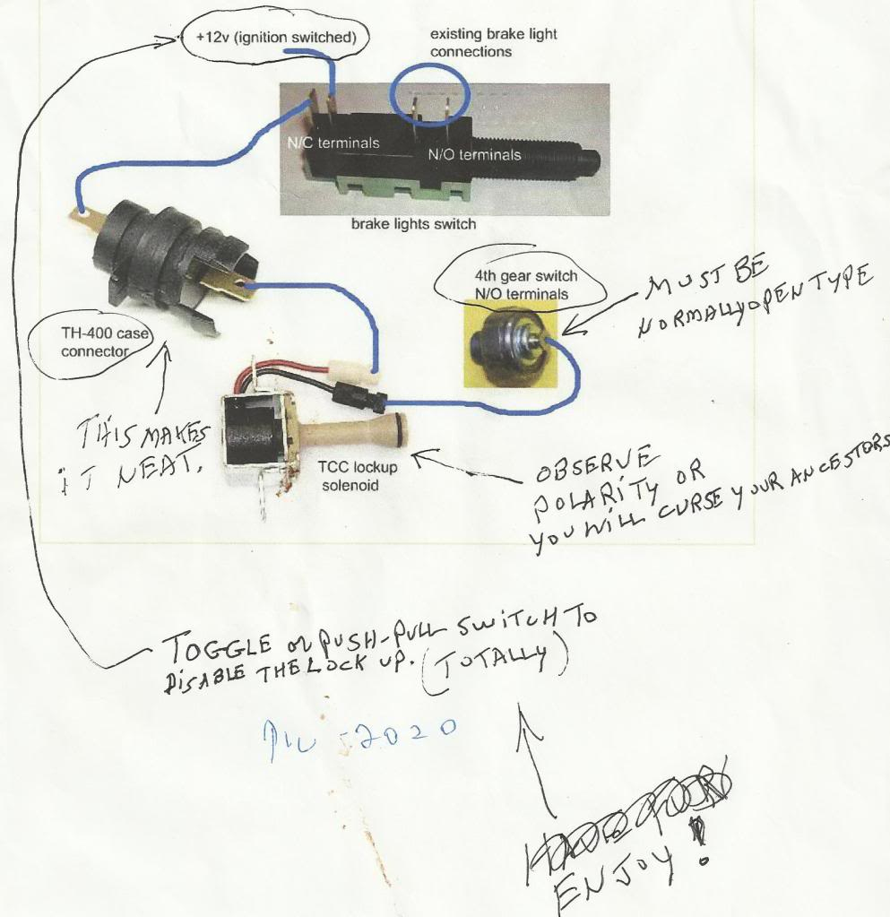 200-4R Lock-Up Wiring Help - Corvetteforum - Chevrolet Corvette - 200R4 Lockup Wiring Diagram