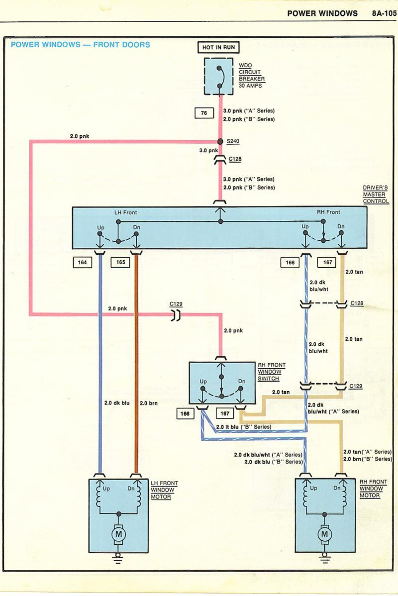 2001 Chevy Impala Power Window Wiring Diagram | Manual E-Books - Power Window Wiring Diagram Chevy