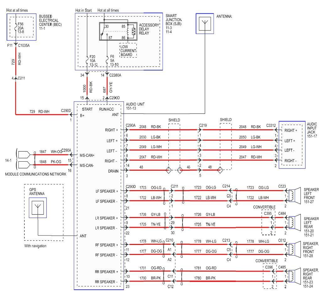 2005 Mustang Radio Wiring Harness - Schema Wiring Diagram - 2005 Ford Explorer Radio Wiring Diagram