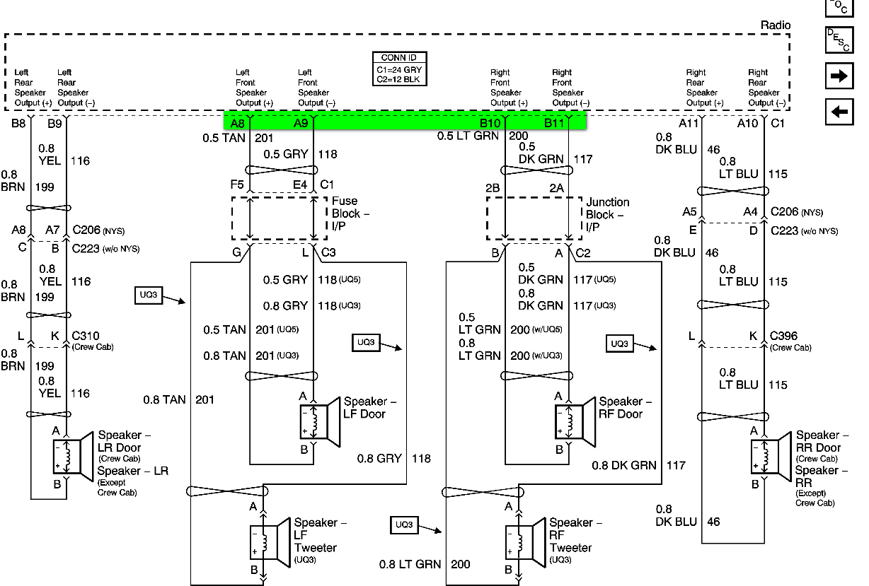 2008 Chevy Radio Wiring Diagram | Wiring Diagram - Car Speaker Wiring Diagram