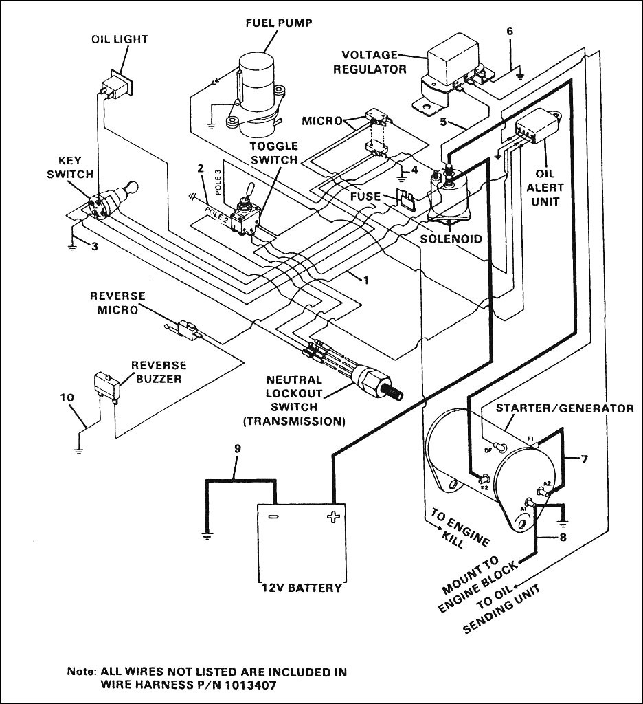 2009 Club Car Precedent Gas Wiring Diagram - Schema Wiring Diagram - Club Car Wiring Diagram