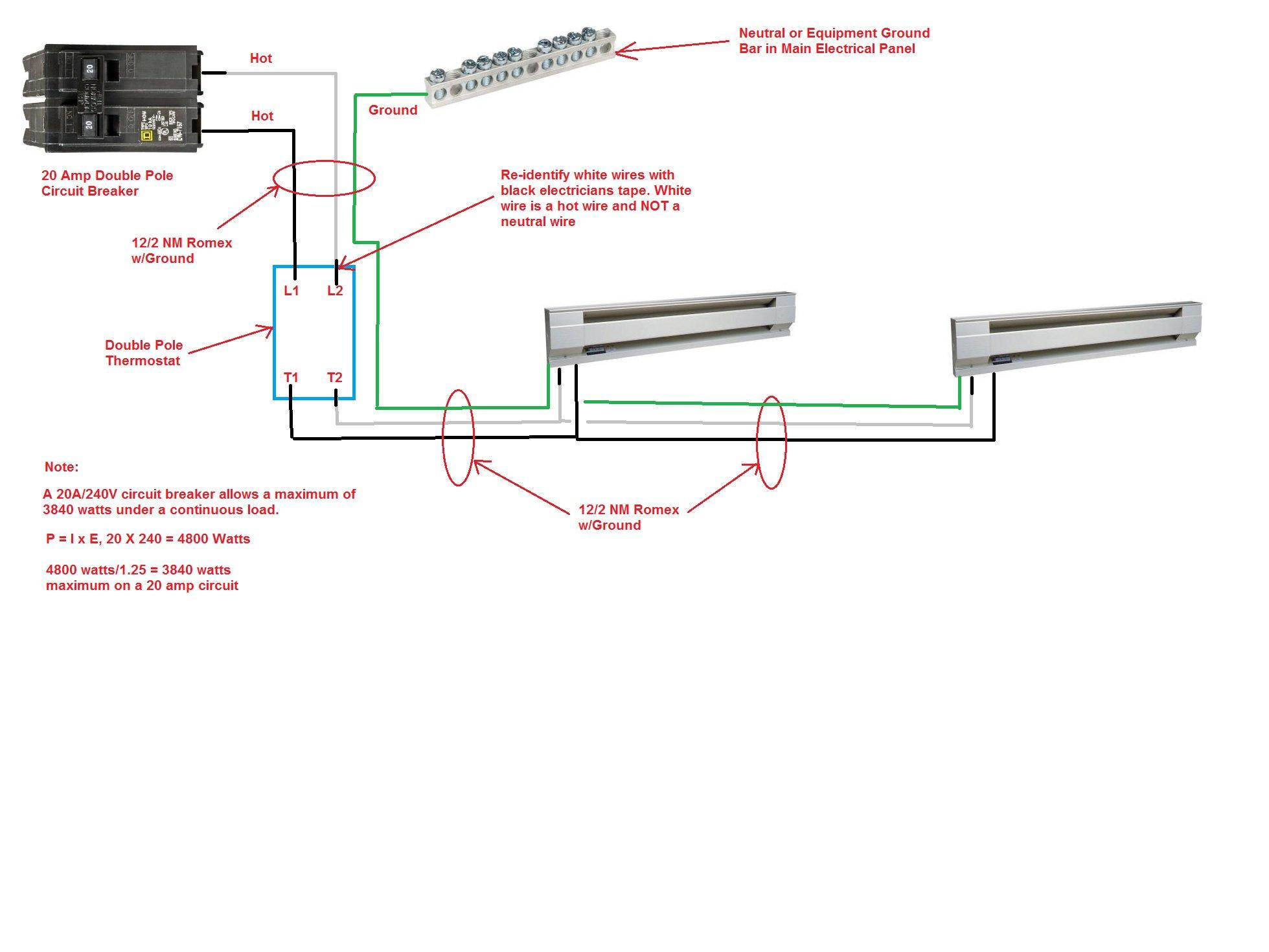 220 Baseboard Heater Wiring Diagram | Wiring Diagram - Baseboard Heater Wiring Diagram