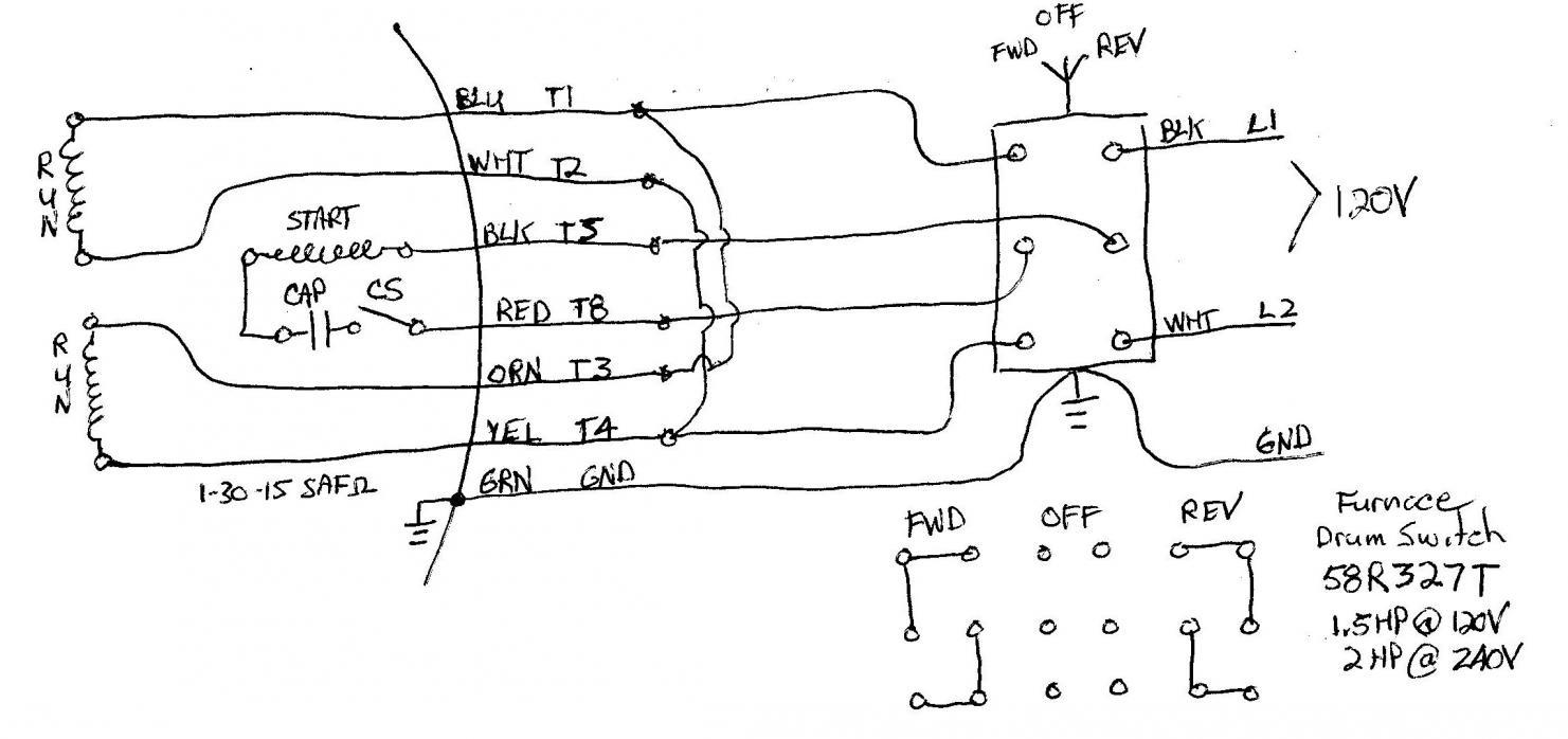 220 Single Phase Reversing Motor Wiring Diagram | Manual E-Books - Reversing Single Phase Motor Wiring Diagram
