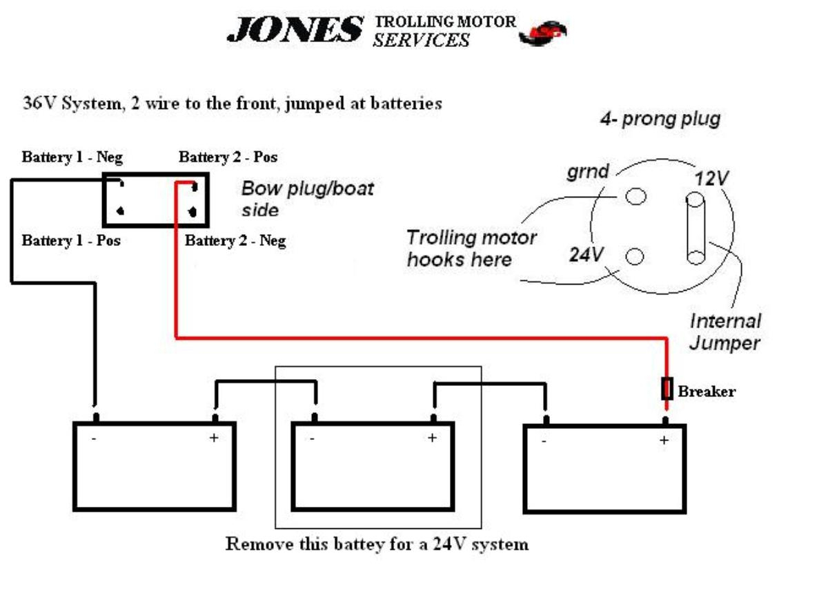 24 Volt Trolling Motor Battery Wiring Diagram | Manual E-Books - 24 Volt Battery Wiring Diagram
