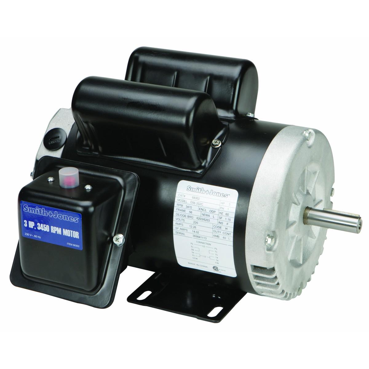 3 Hp Compressor Duty Motor - Emerson Electric Motors Wiring Diagram
