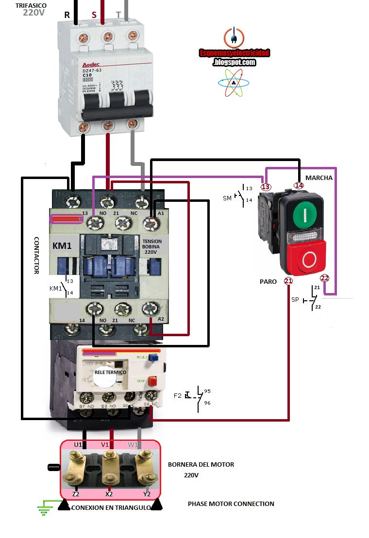 3 Phase Motor Wiring Diagrams Electrical Info Pics Within Diagram 18 - 3 Phase Motor Starter Wiring Diagram Pdf