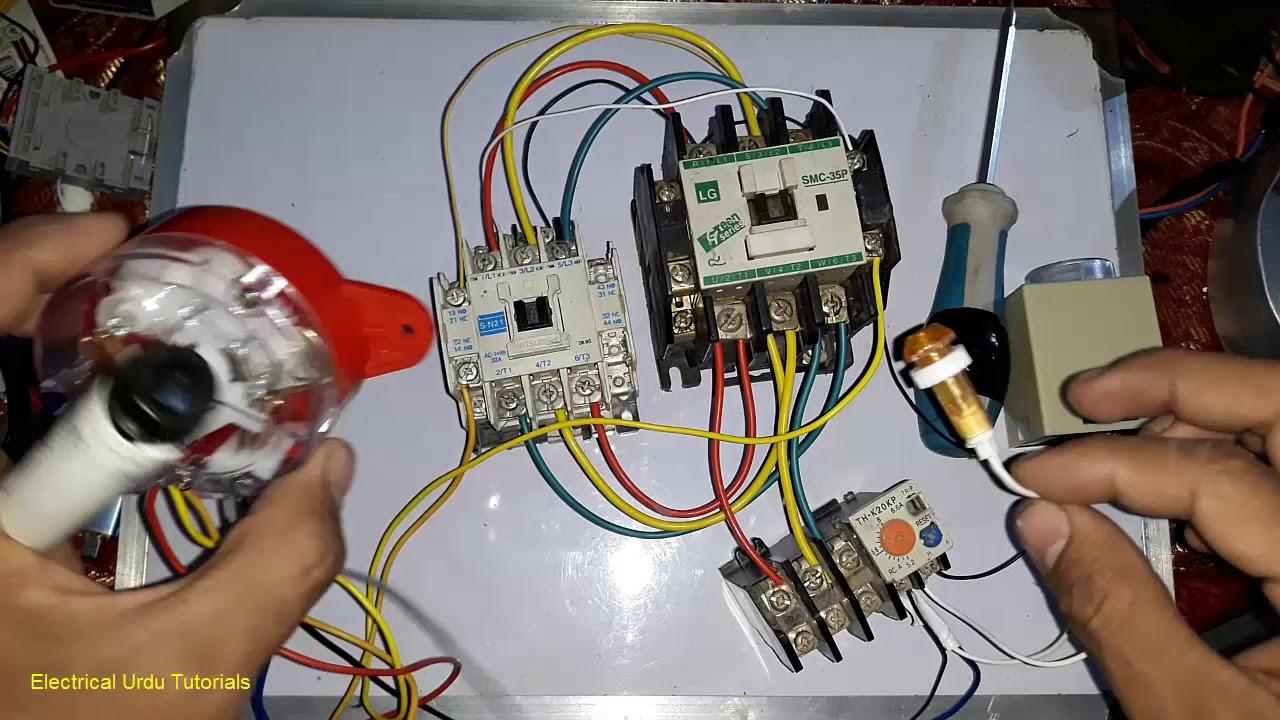 3 Phase Washing Machine Motor Wiring With 6 Wire Timer (Urdu/hindi - 3 Phase Motor Wiring Diagram 6 Wire