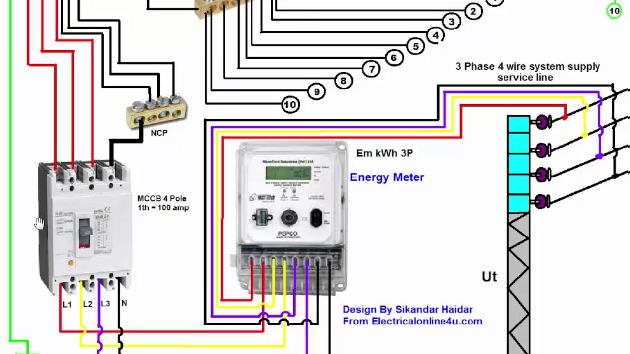 3 Phase Wiring Installation In House | 3 Phase Distribution Board - 3 Phase Wiring Diagram