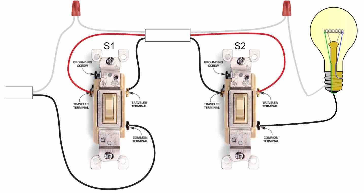 3 Way Switch Wiring Diagram - Schema Wiring Diagram - 3 Way Switch Wiring Diagram Multiple Lights