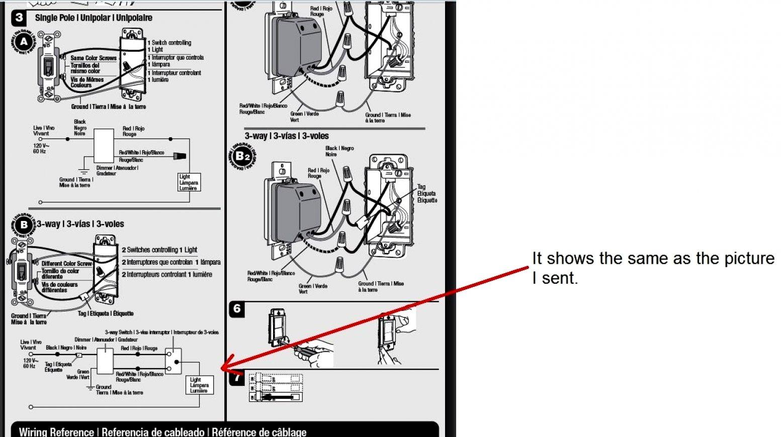 3 Way Wiring Diagram Lutron   Manual E-Books - Lutron 3 Way Dimmer Wiring Diagram