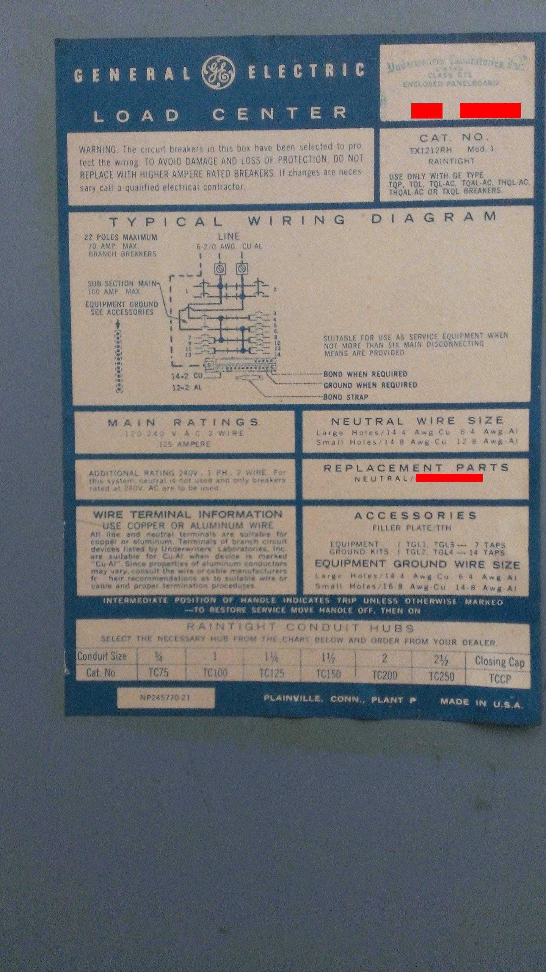 30A Load Center Wiring Diagram | Wiring Diagram - Ge Powermark Gold Load Center Wiring Diagram