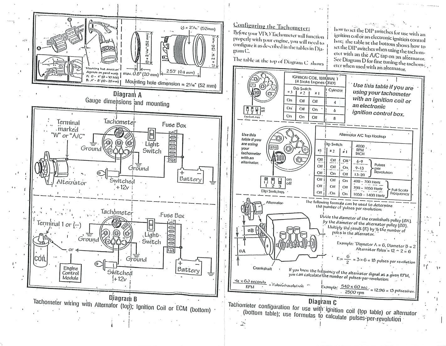 356 Tach Wiring   Wiring Diagram - Tachometer Wiring Diagram