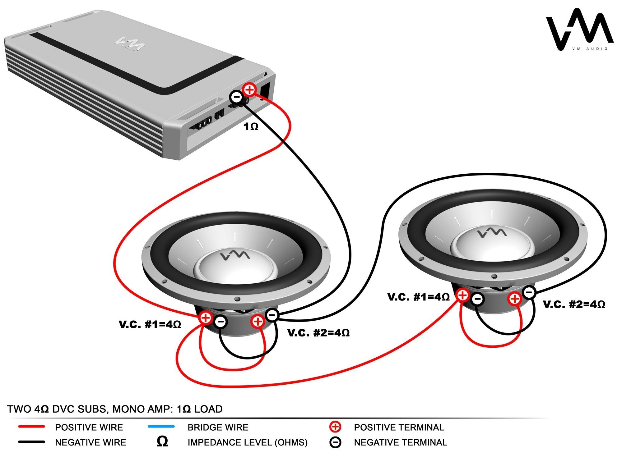 4 Ohm Dual Voice Coil Wiring Diagram Inspirational Kicker Bridge - Kicker Wiring Diagram