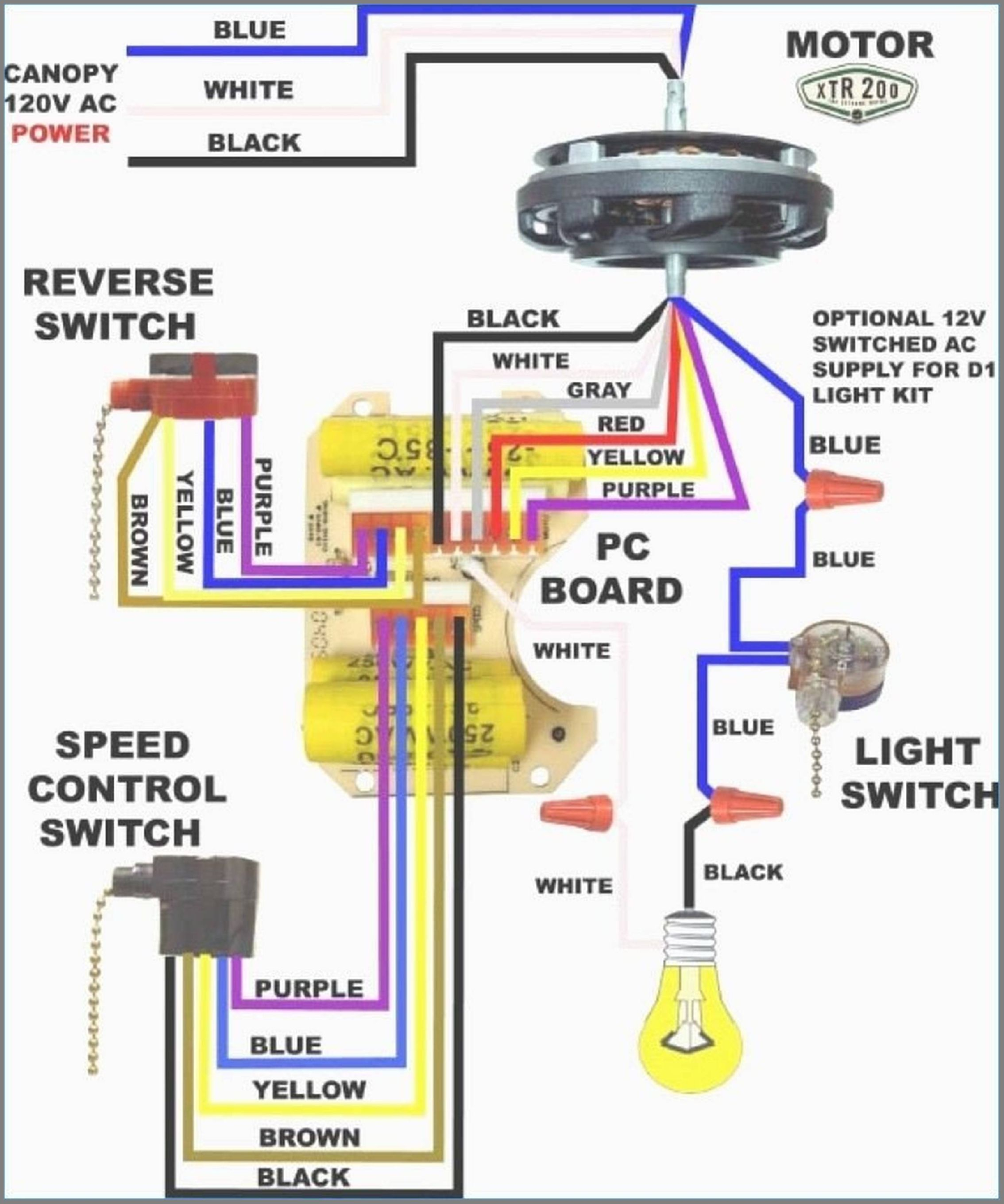 4 Wire Harbor Breeze 3 Speed Ceiling Fan Switch With Capacitor - Hunter Ceiling Fan Switch Wiring Diagram