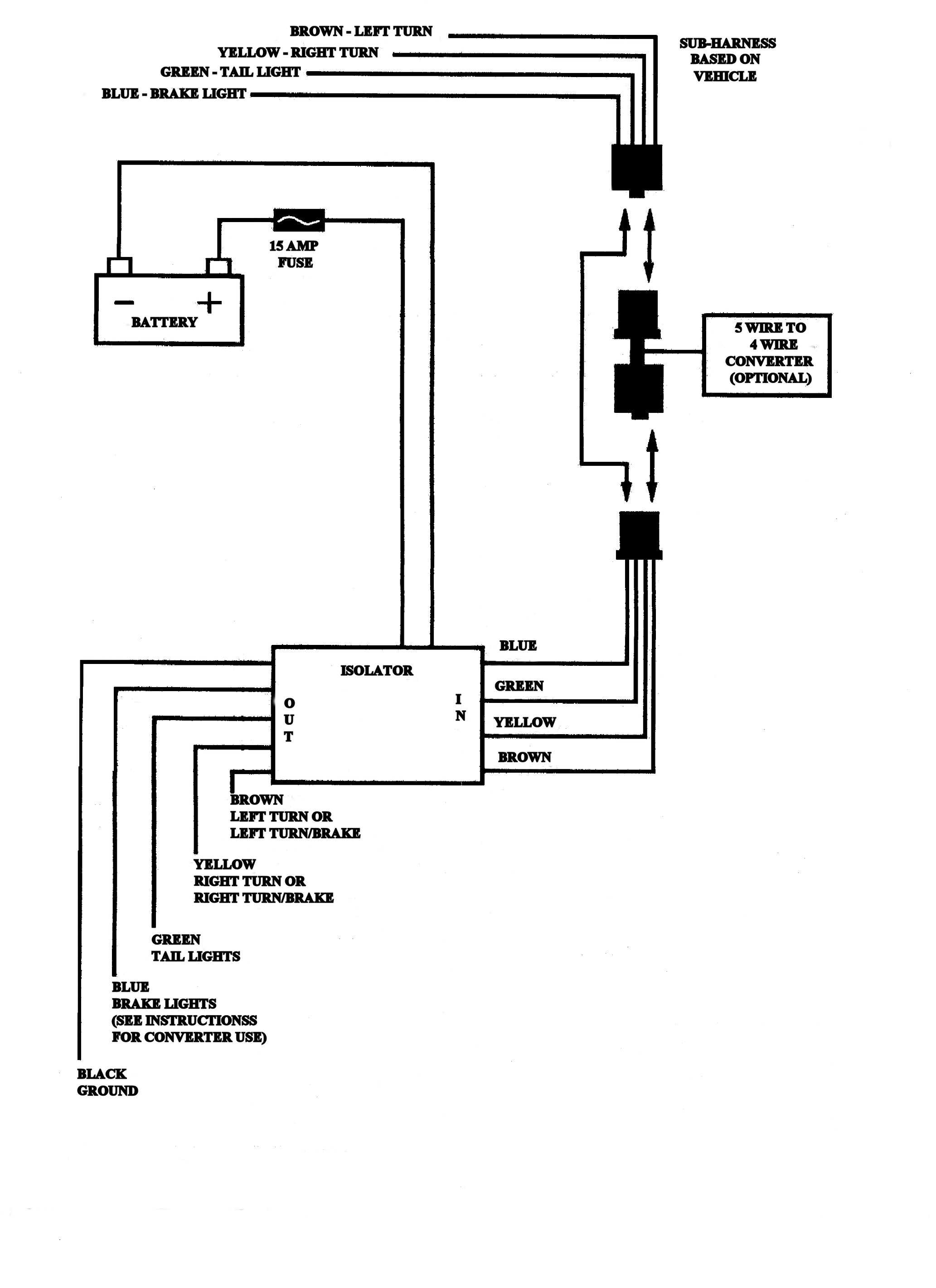 4 Wire Harness | Wiring Diagram - Trailer Wiring Diagram 4 Pin