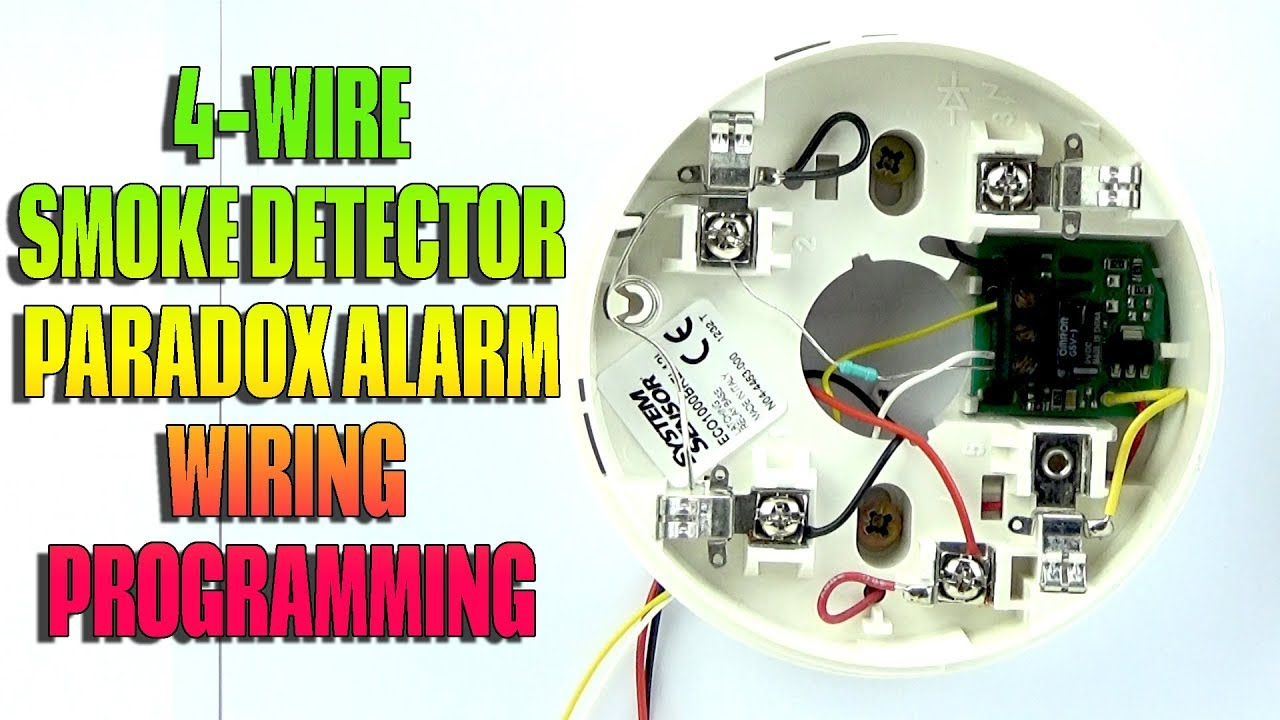 4 Wire Smoke Detector Wiring And Programming Paradox Alarm - Youtube - 4 Wire Smoke Detector Wiring Diagram