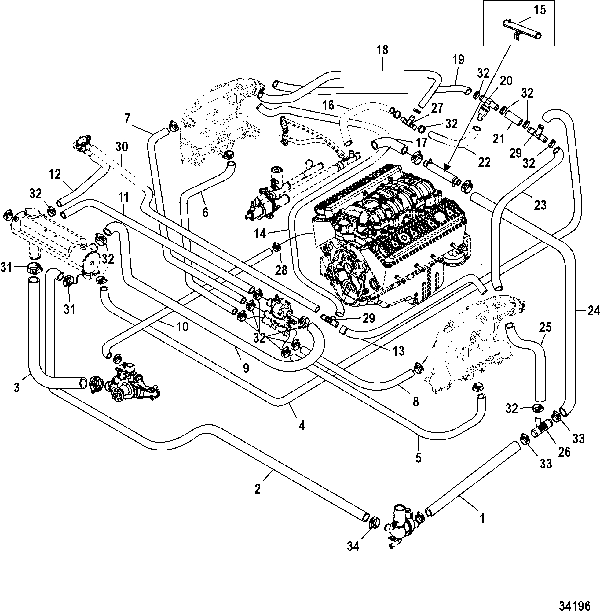 454 Mercruiser Engine Wiring Diagram | Wiring Library - Mercruiser 5.7 Wiring Diagram