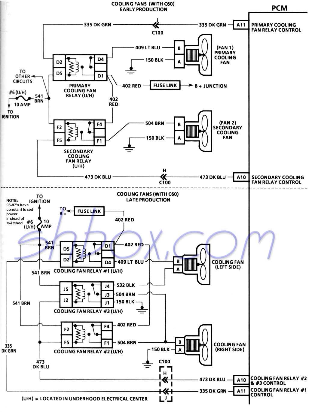 4Th Gen Lt1 F-Body Tech Aids - Fan Wiring Diagram