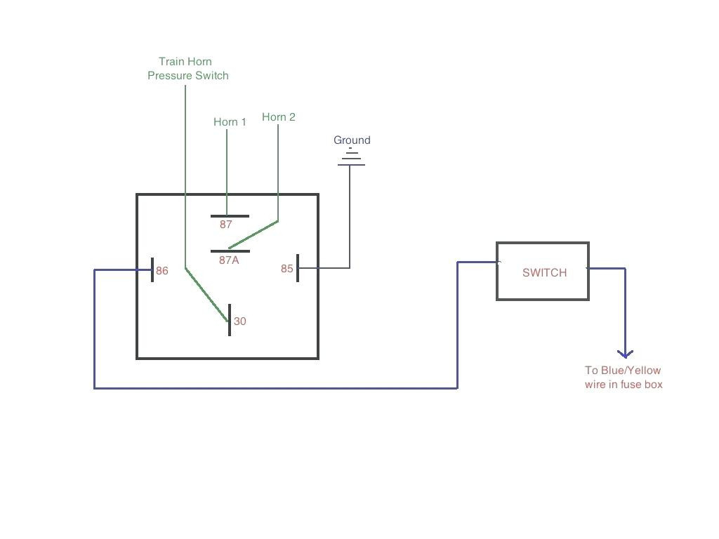 5 Pin Relay Wiring Diagram Bosch 4 For Incredible Horn - Relay Wiring Diagram 5 Pin
