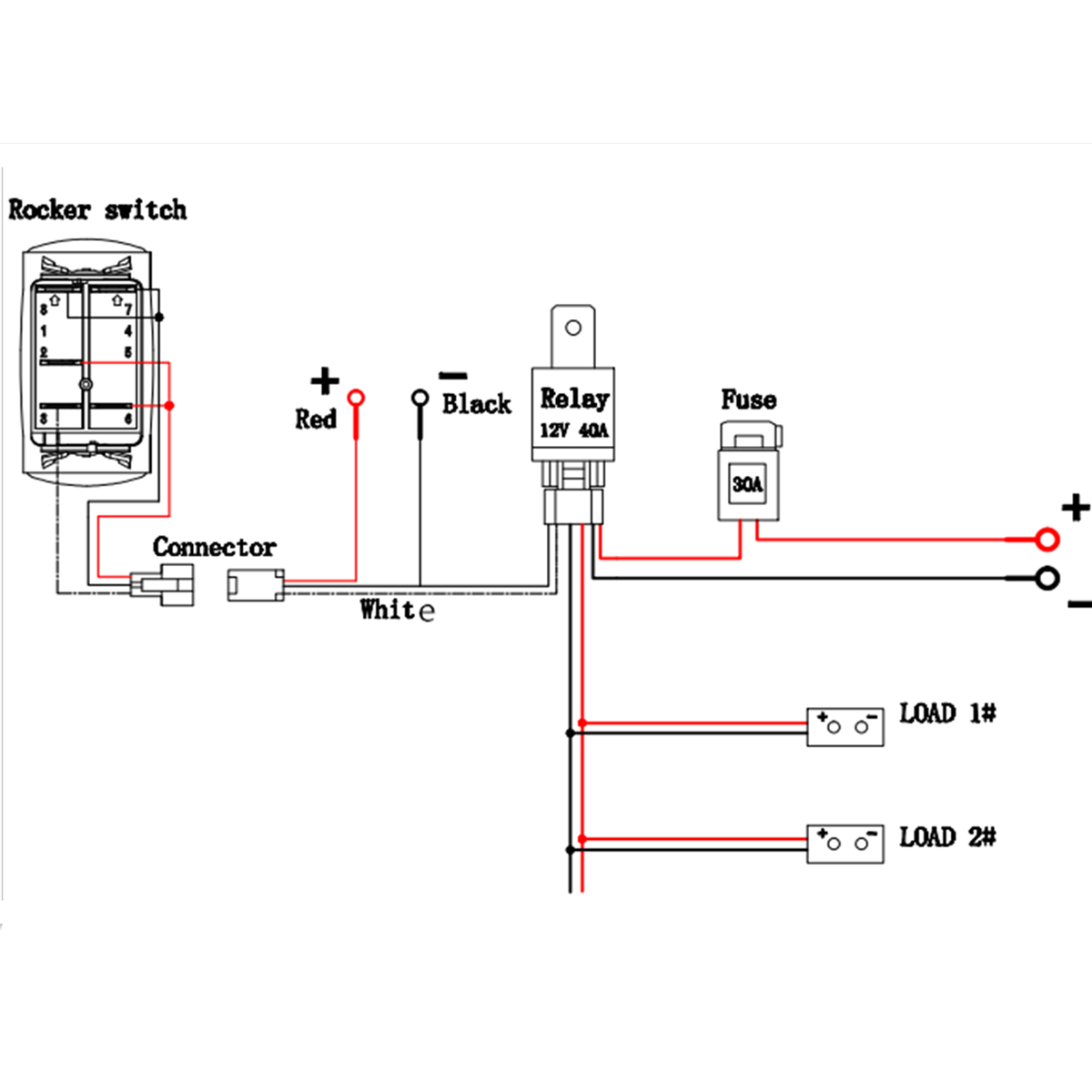 5 Wire Led Diagram | Wiring Diagram - Auto Relay Wiring Diagram
