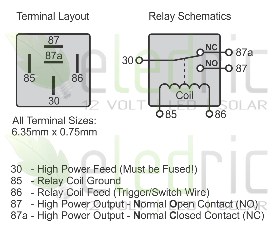5 Wire Relay Schematic | Wiring Diagram - Automotive Relay Wiring Diagram