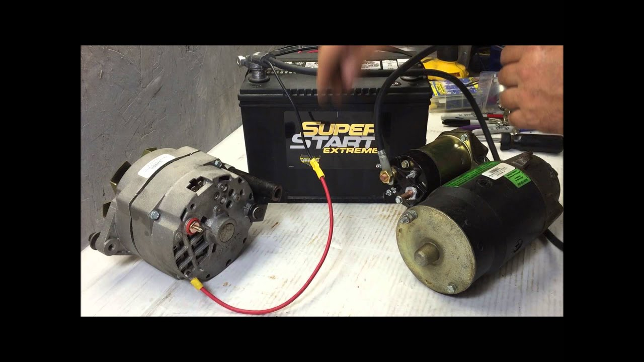64-72 Charging System Wire Up Using Gm 3 Wire Internally Regulated - Gm 1 Wire Alternator Wiring Diagram