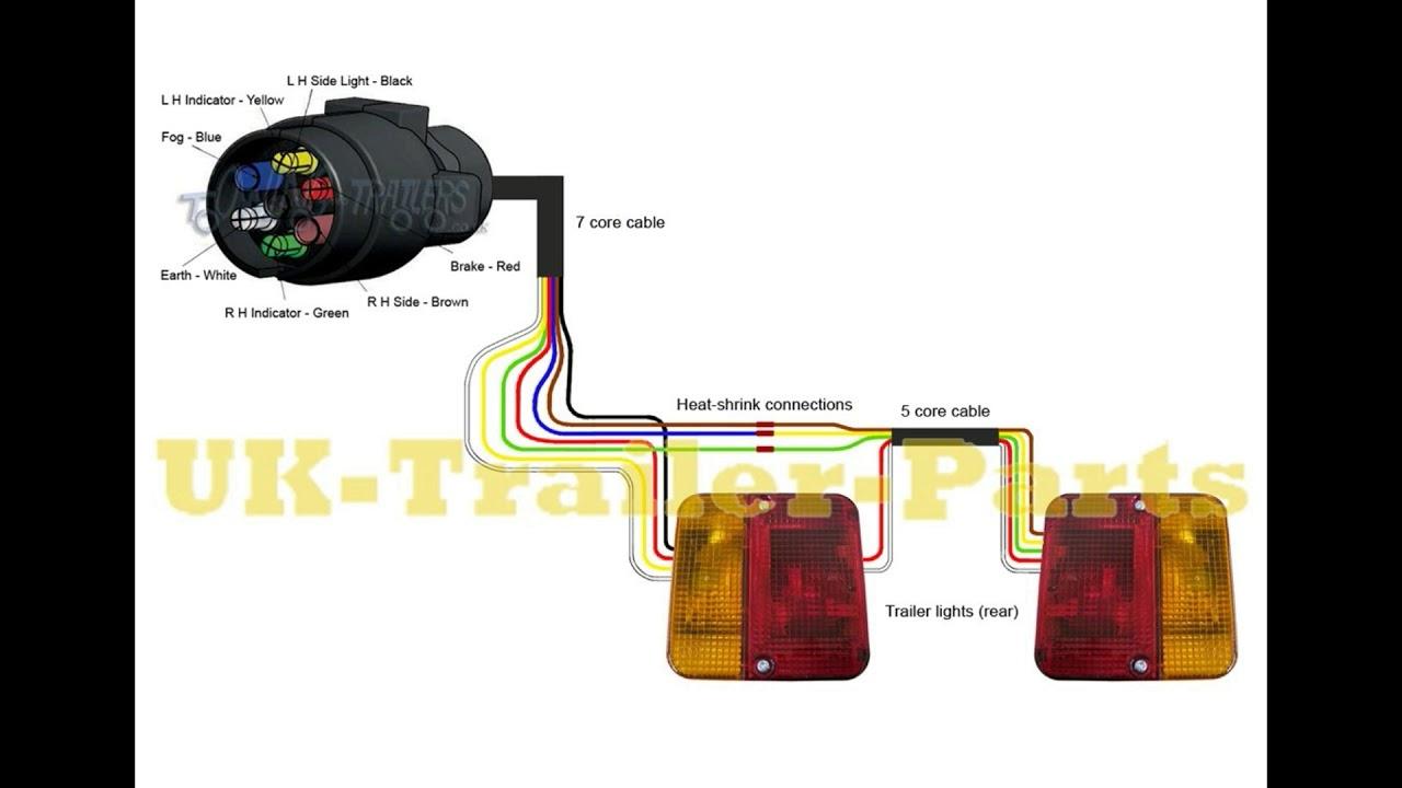 7 Pin 'n' Type Trailer Plug Wiring Diagram - Youtube - 7 Way Wiring Diagram
