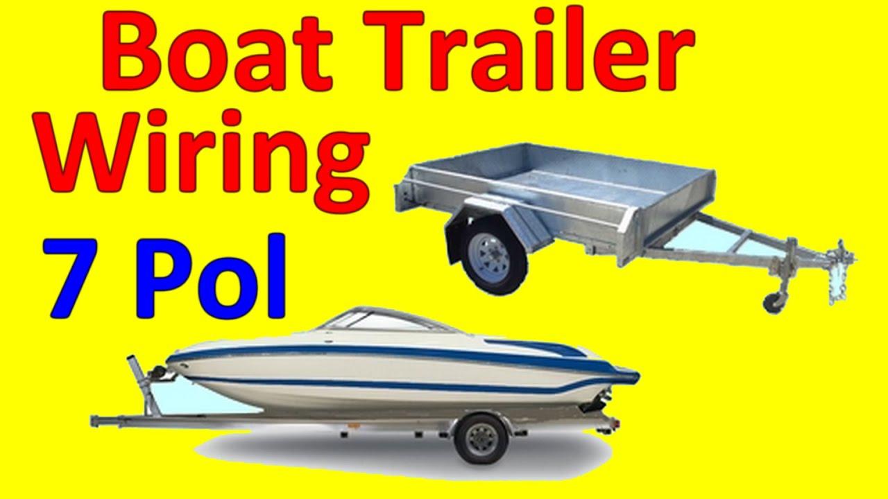 7 Pin Trailer Boat Wiring Diagram - Youtube - Seven Pin Trailer Wiring Diagram
