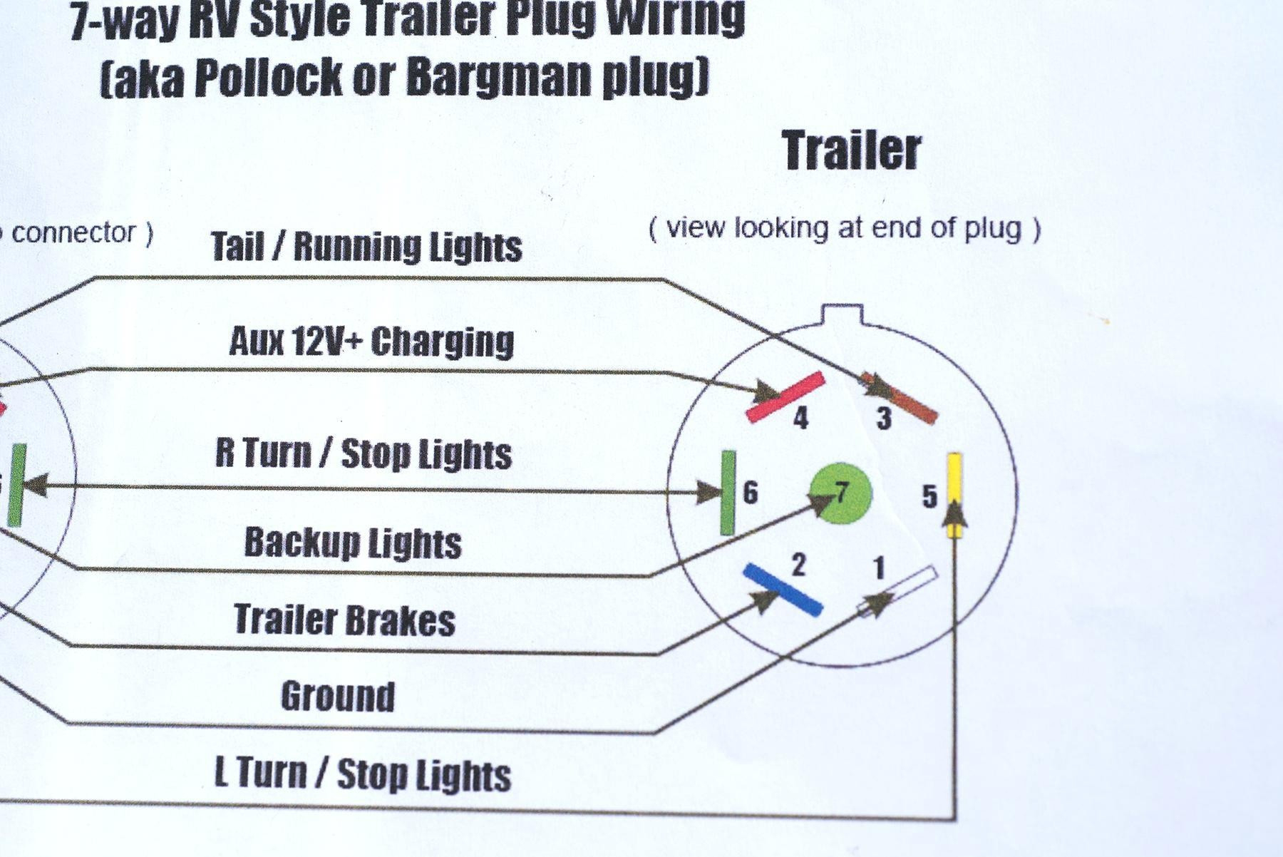7 Way Flat Wiring Diagram - Wiring Block Diagram - Trailer Connector Wiring Diagram