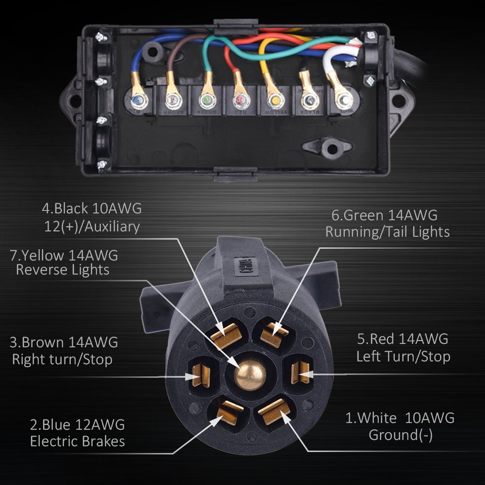 7 Way Trailer Wiring Junction Box With Diagram | Manual E-Books - Trailer Junction Box Wiring Diagram