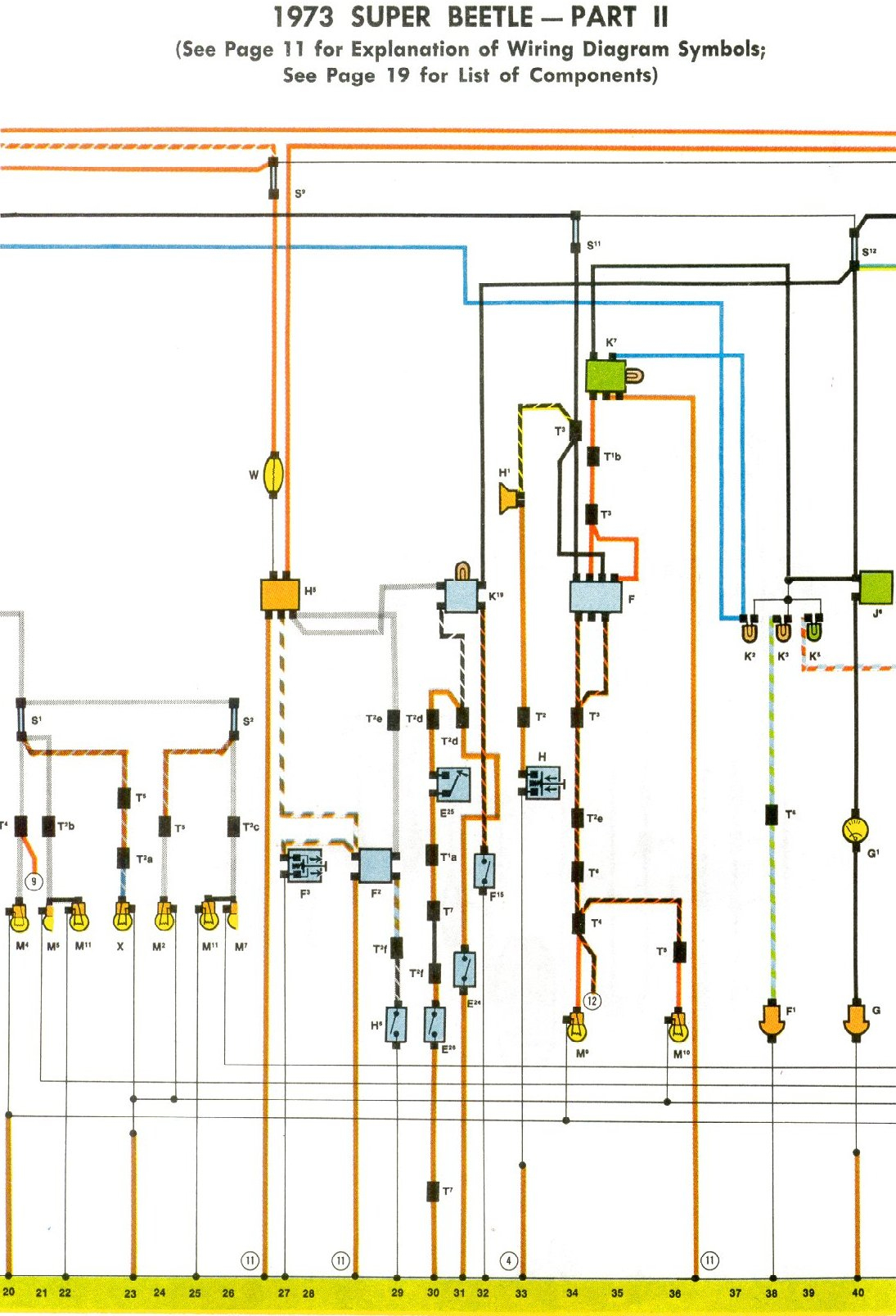 73 Vw Wiring Diagram - Data Wiring Diagram Schematic - 1973 Vw Beetle Wiring Diagram