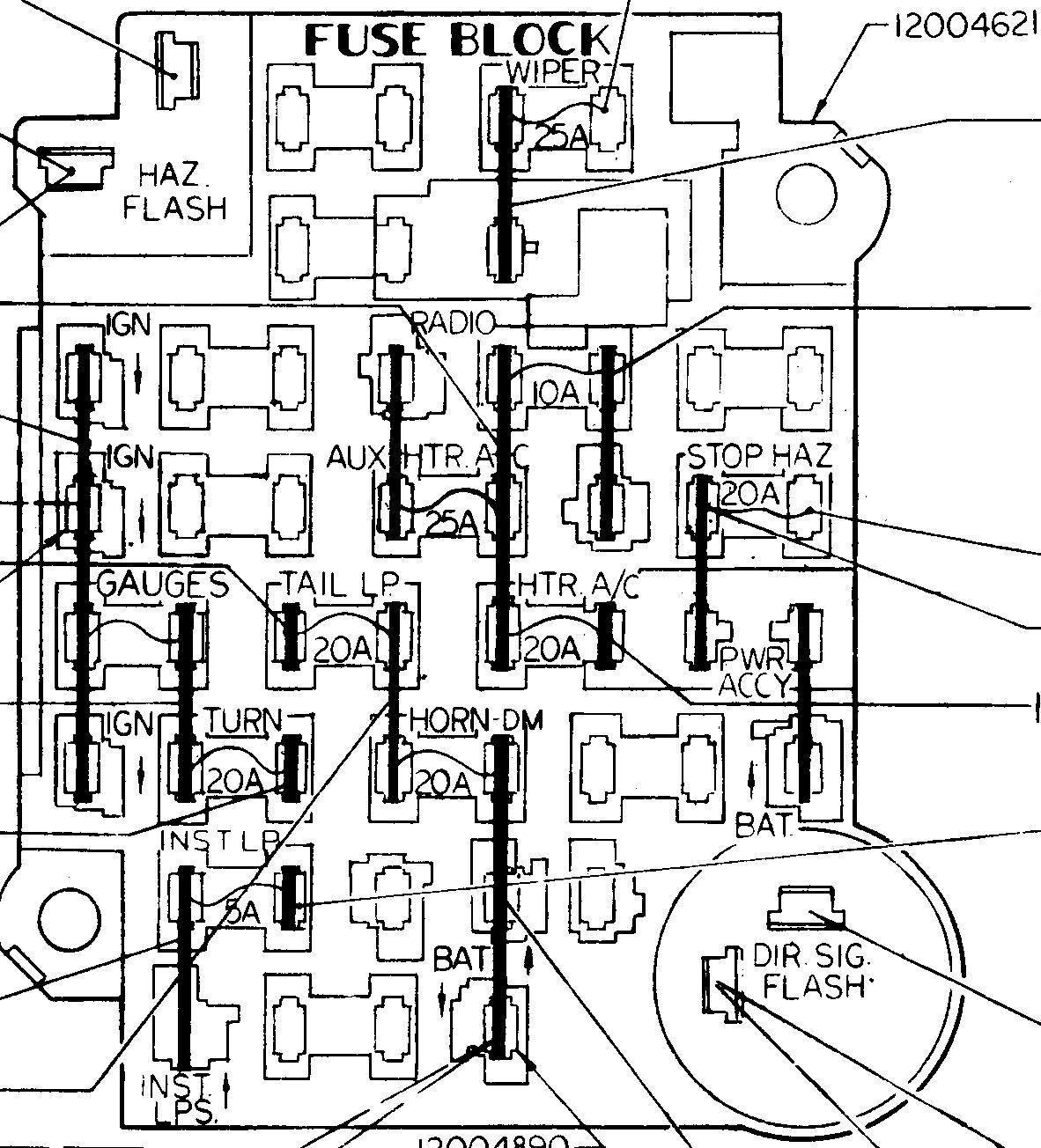 79 Chevy Fuse Box - Wiring Diagrams Hubs - 1979 Chevy Truck Wiring Diagram