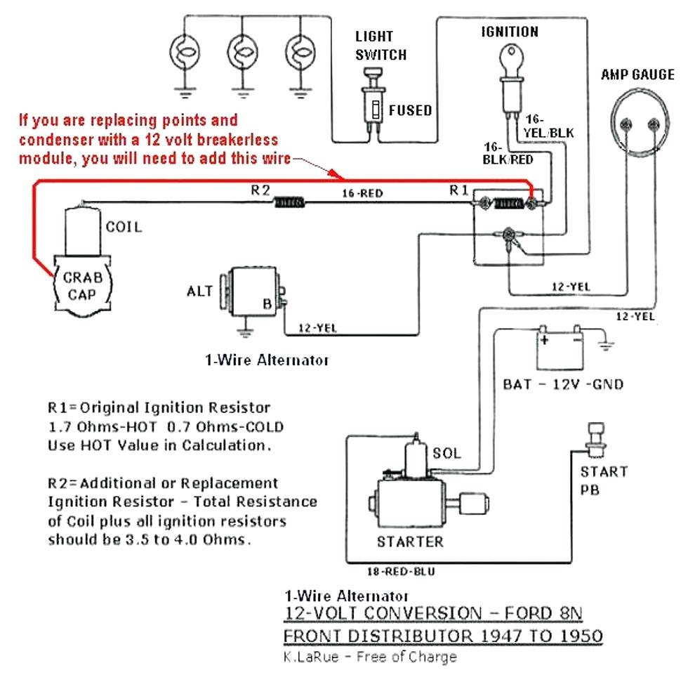 8N 12 Volt Conversion Wiring Diagram 1 Wire - Wiring Diagram Explained - Ford 8N 12 Volt Conversion Wiring Diagram