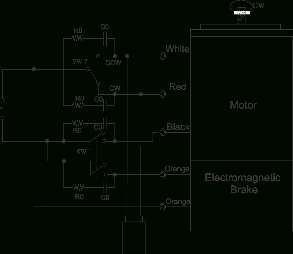 90 Watt Electromagnetic Brake Motor And Gear Motor   Swipfe - Wiring Diagram For 230V Single Phase Motor