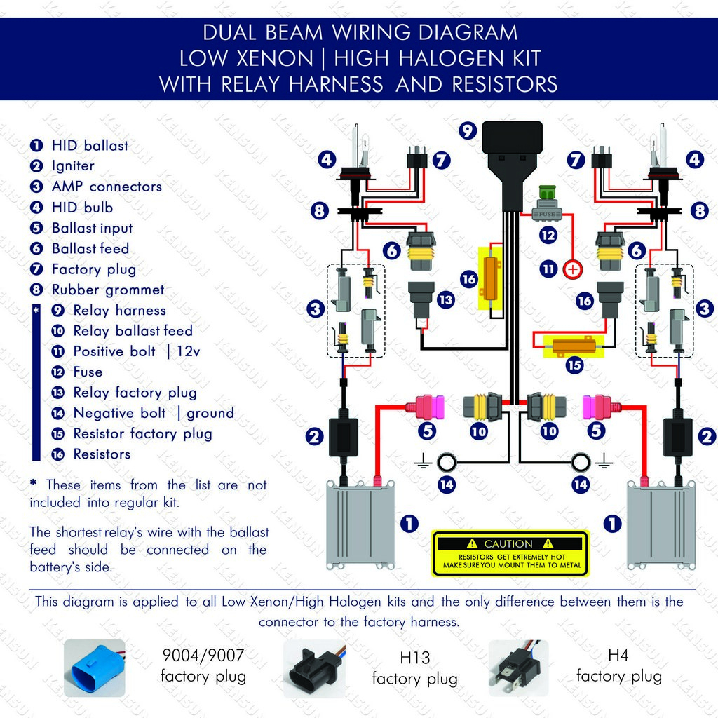 9007 Hid Wiring Diagram - Wiring Diagram Blog - Hid Wiring Diagram