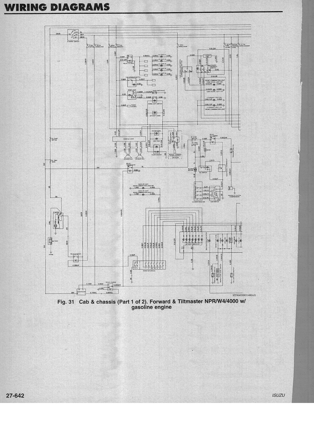 94 Isuzu Npr Wiring Diagram | Manual E-Books - 2006 Isuzu Npr Wiring Diagram