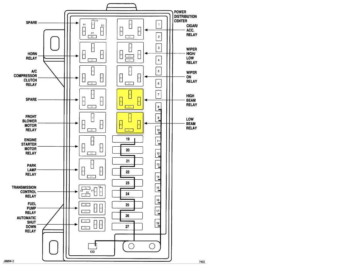 98 Caravan Fuse Box | Wiring Library - Horn Relay Wiring Diagram